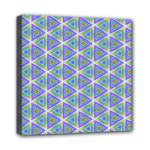 Colorful Retro Geometric Pattern Mini Canvas 8  X 8