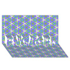 Colorful Retro Geometric Pattern Engaged 3d Greeting Card (8x4) by DanaeStudio