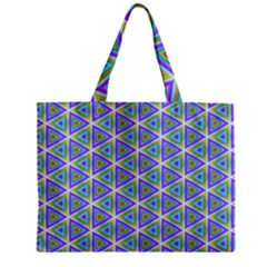 Colorful Retro Geometric Pattern Zipper Mini Tote Bag