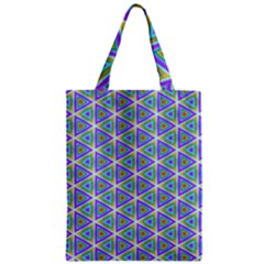 Colorful Retro Geometric Pattern Zipper Classic Tote Bag by DanaeStudio