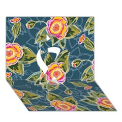 Floral Fantsy Pattern Ribbon 3d Greeting Card (7x5) by DanaeStudio