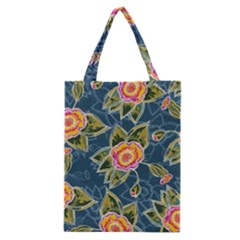 Floral Fantsy Pattern Classic Tote Bag by DanaeStudio
