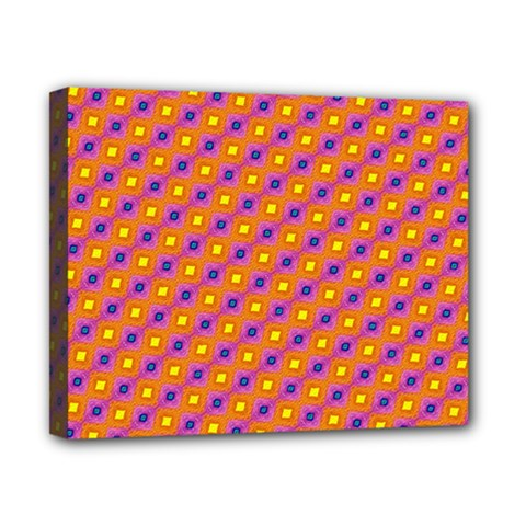Vibrant Retro Diamond Pattern Canvas 10  X 8  by DanaeStudio