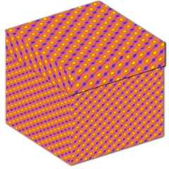 Vibrant Retro Diamond Pattern Storage Stool 12   by DanaeStudio