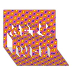 Vibrant Retro Diamond Pattern Get Well 3d Greeting Card (7x5) by DanaeStudio