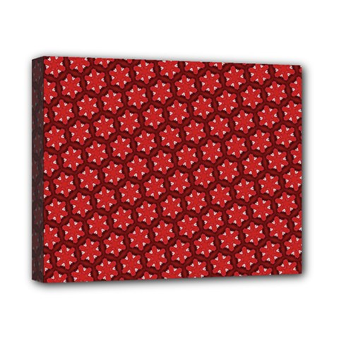 Red Passion Floral Pattern Canvas 10  X 8  by DanaeStudio