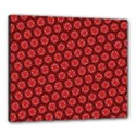 Red Passion Floral Pattern Canvas 24  x 20  View1