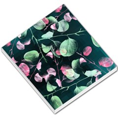 Modern Green And Pink Leaves Small Memo Pads by DanaeStudio