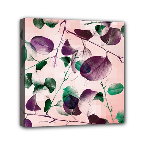 Spiral Eucalyptus Leaves Mini Canvas 6  X 6  by DanaeStudio