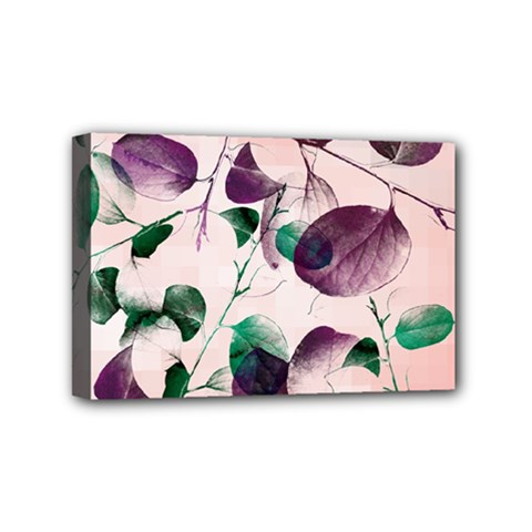 Spiral Eucalyptus Leaves Mini Canvas 6  X 4  by DanaeStudio