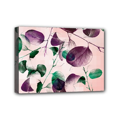 Spiral Eucalyptus Leaves Mini Canvas 7  X 5  by DanaeStudio