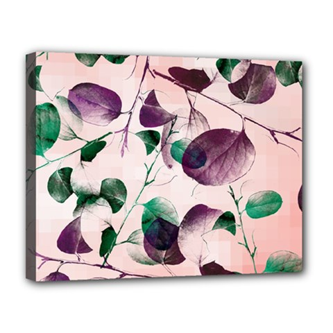 Spiral Eucalyptus Leaves Canvas 14  X 11  by DanaeStudio