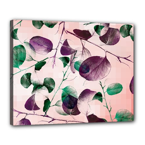 Spiral Eucalyptus Leaves Canvas 20  X 16  by DanaeStudio
