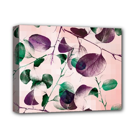 Spiral Eucalyptus Leaves Deluxe Canvas 14  X 11  by DanaeStudio