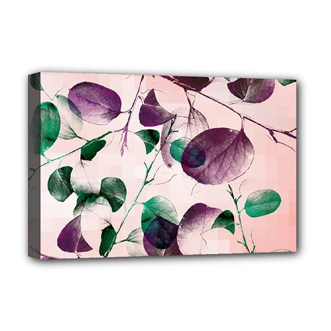 Spiral Eucalyptus Leaves Deluxe Canvas 18  X 12   by DanaeStudio