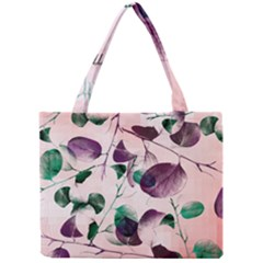 Spiral Eucalyptus Leaves Mini Tote Bag by DanaeStudio