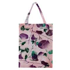 Spiral Eucalyptus Leaves Classic Tote Bag by DanaeStudio