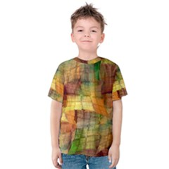 Indian Summer Funny Check Kids  Cotton Tee by designworld65