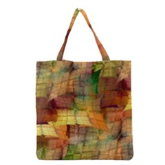 Indian Summer Funny Check Grocery Tote Bag by designworld65