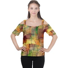 Indian Summer Funny Check Women s Cutout Shoulder Tee by designworld65