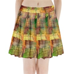 Indian Summer Funny Check Pleated Mini Skirt by designworld65