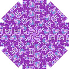 Cute Violet Elephants Pattern Straight Umbrellas by DanaeStudio