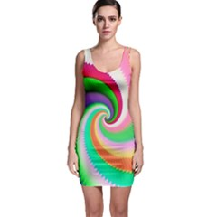 Colorful Spiral Dragon Scales   Sleeveless Bodycon Dress