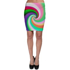 Colorful Spiral Dragon Scales   Bodycon Skirt