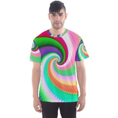 Colorful Spiral Dragon Scales   Men s Sport Mesh Tee