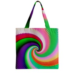 Colorful Spiral Dragon Scales   Grocery Tote Bag by designworld65