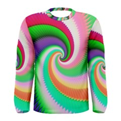 Colorful Spiral Dragon Scales   Men s Long Sleeve Tee