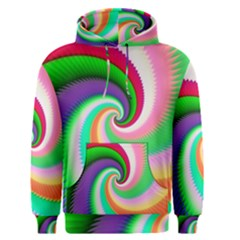 Colorful Spiral Dragon Scales   Men s Pullover Hoodie