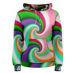 Colorful Spiral Dragon Scales   Women s Pullover Hoodie