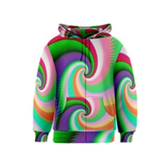 Colorful Spiral Dragon Scales   Kids  Zipper Hoodie