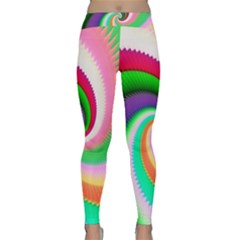 Colorful Spiral Dragon Scales   Yoga Leggings