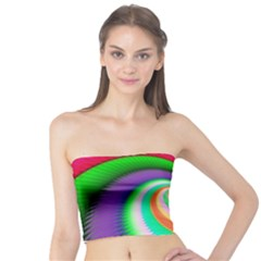 Colorful Spiral Dragon Scales   Tube Top