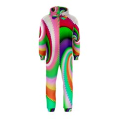 Colorful Spiral Dragon Scales   Hooded Jumpsuit (Kids)
