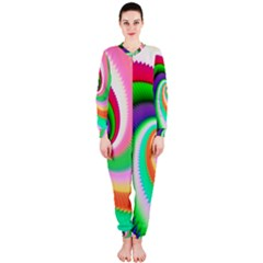 Colorful Spiral Dragon Scales   OnePiece Jumpsuit (Ladies)