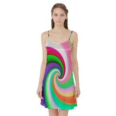 Colorful Spiral Dragon Scales   Satin Night Slip by designworld65