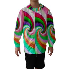 Colorful Spiral Dragon Scales   Hooded Wind Breaker (Kids)