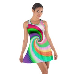 Colorful Spiral Dragon Scales   Cotton Racerback Dress