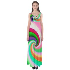 Colorful Spiral Dragon Scales   Empire Waist Maxi Dress by designworld65