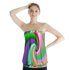 Colorful Spiral Dragon Scales   Strapless Top