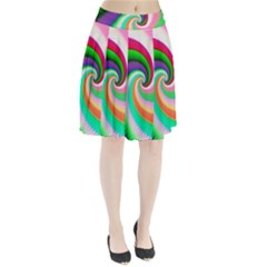 Colorful Spiral Dragon Scales   Pleated Skirt by designworld65