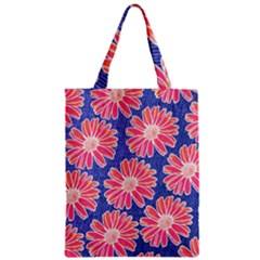 Pink Daisy Pattern Zipper Classic Tote Bag by DanaeStudio