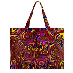 Abstract Shimmering Multicolor Swirly Mini Tote Bag by designworld65