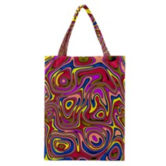 Abstract Shimmering Multicolor Swirly Classic Tote Bag by designworld65