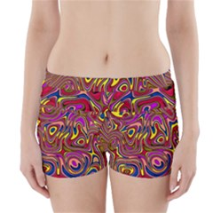 Abstract Shimmering Multicolor Swirly Boyleg Bikini Wrap Bottoms by designworld65