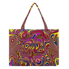 Abstract Shimmering Multicolor Swirly Medium Tote Bag by designworld65
