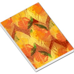 Fall Colors Leaves Pattern Large Memo Pads by DanaeStudio